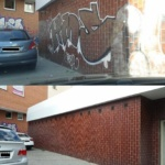 Obrázek odstranění graffiti
